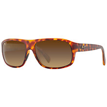 Buy Maui Jim Free Dive Polarised Sunglasses, Tortoise Online at johnlewis.com