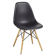 Buy Set of 4 Vitra Eames DSW Side Chairs, Black / Light Wood Online at johnlewis.com