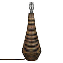 Buy John Lewis Ira Wooden Flute Lamp Base Online at johnlewis.com