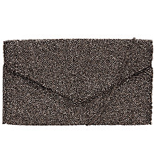 Buy John Lewis Fabric Beaded Pouch, Gunmetal Online at johnlewis.com