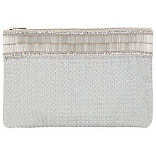 Buy John Lewis Fabric Pouch, Silver Online at johnlewis.com