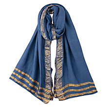 Buy East Lurex Border Scarf, Ash Online at johnlewis.com