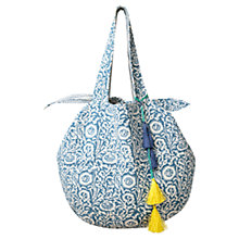 Buy East Quilted Tote Bag, Blue Online at johnlewis.com