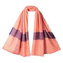 Buy East Woven Jacquard Scarf, Rust Online at johnlewis.com