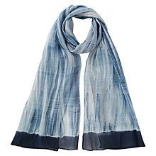 Buy East Silk Blend Shibori Scarf, Indigo Online at johnlewis.com