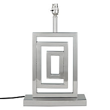 Buy John Lewis Boutique Hotel Argyll Square Lamp Base, Metallic Online at johnlewis.com
