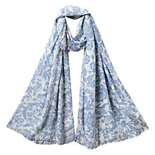 Buy East Calypso Print Scarf, Blue Online at johnlewis.com