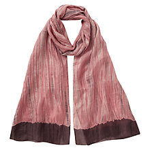 Buy East Silk Shibori Scarf, Soft Blush Online at johnlewis.com