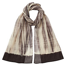 Buy East Silk Blend Shibori Scarf, Slate Online at johnlewis.com