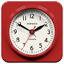 Buy Newgate Biscuit Mantle Clock, Red Online at johnlewis.com