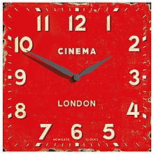 Buy Newgate Cinema Square Wall Clock Online at johnlewis.com