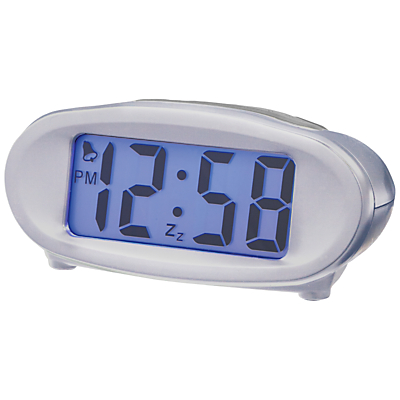 Image of Acctim Eclipse Solar Alarm Clock, Silver
