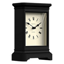 Buy Newgate Library Mantel Clock, Black Online at johnlewis.com