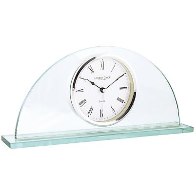 Image of London Clock Company Half Moon Mantel Clock, Glass
