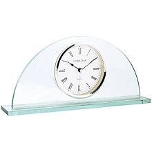 Buy London Clock Company Half Moon Mantel Clock, Glass Online at johnlewis.com