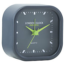 Buy London Clock Company Metal Square Alarm, Grey Online at johnlewis.com