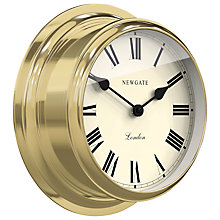 Buy Newgate Ocean Wall Clock, Brass Online at johnlewis.com