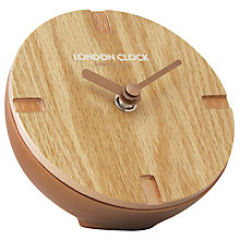 Buy London Clock Company Marker Wooden Mantel Clock Online at johnlewis.com