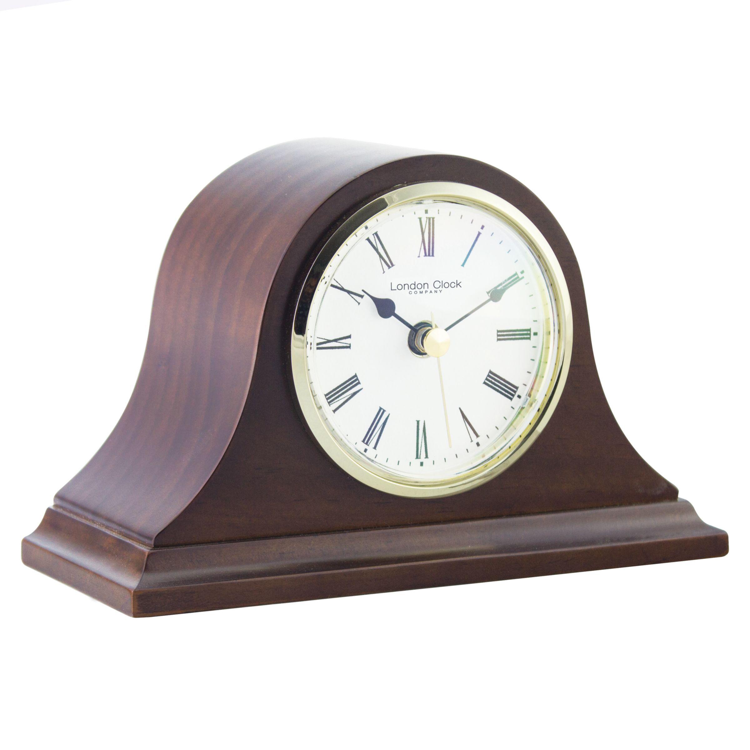 London Clock Company London Clock Company Solid Wood Mantel Clock, Small