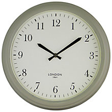 Buy John Lewis Croft Tunbridge Wall Clock, Putty Grey Online at johnlewis.com