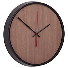 Buy Umbra Madera Wall Clock, Black & Walnut Online at johnlewis.com