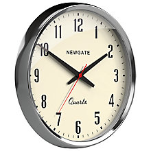 Buy Newgate Mechanic Clock, Silver Online at johnlewis.com