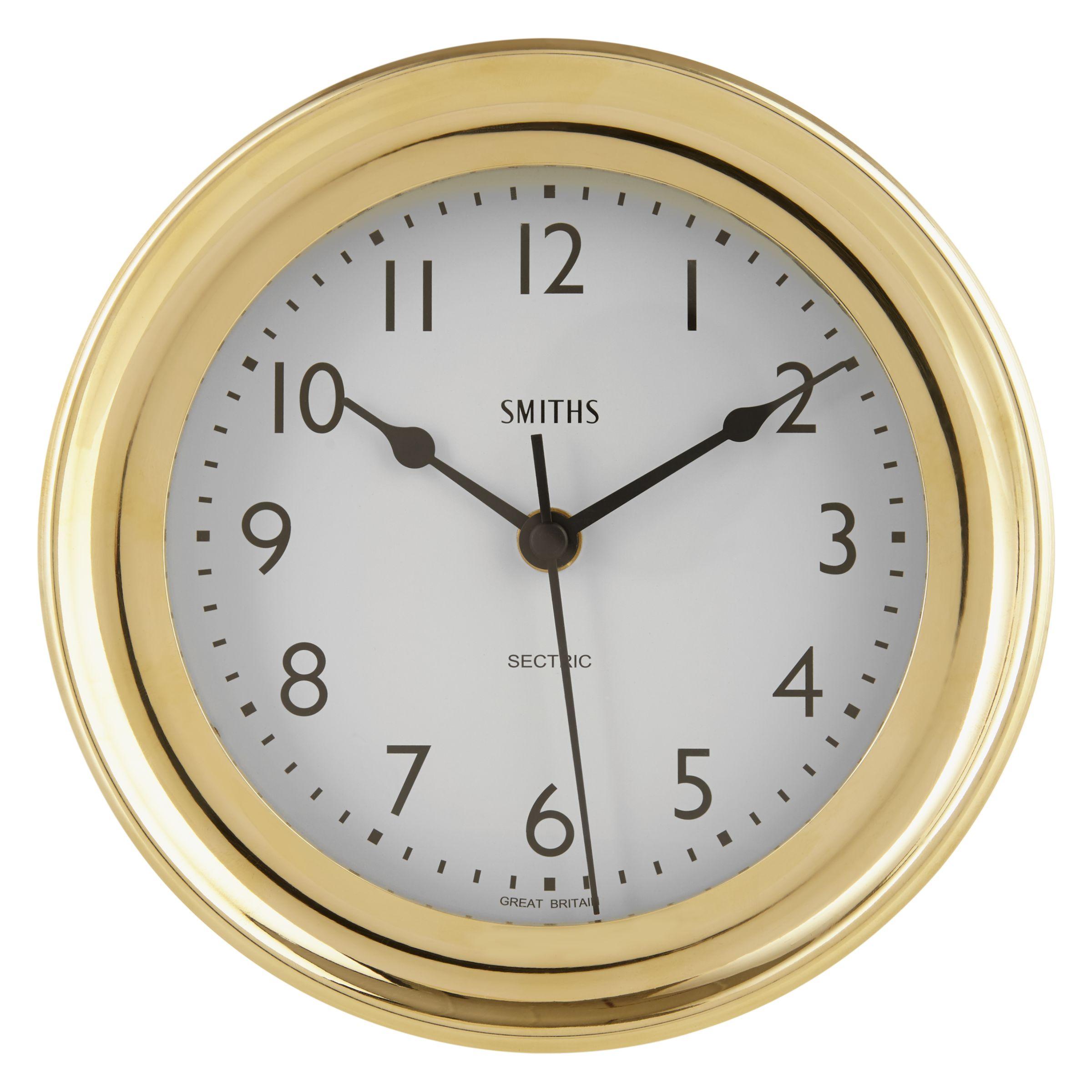 Brookpace Smiths Marine Solid Brass Wall Clock