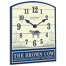 Buy London Clock Company The Brown Cow Wall Clock, Cream and Navy Online at johnlewis.com