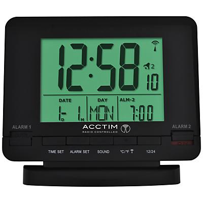 Acctim Radio Controlled Couples Alarm Clock Black