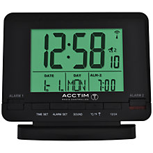 Buy Acctim Radio Controlled Couples Alarm Clock, Black Online at johnlewis.com
