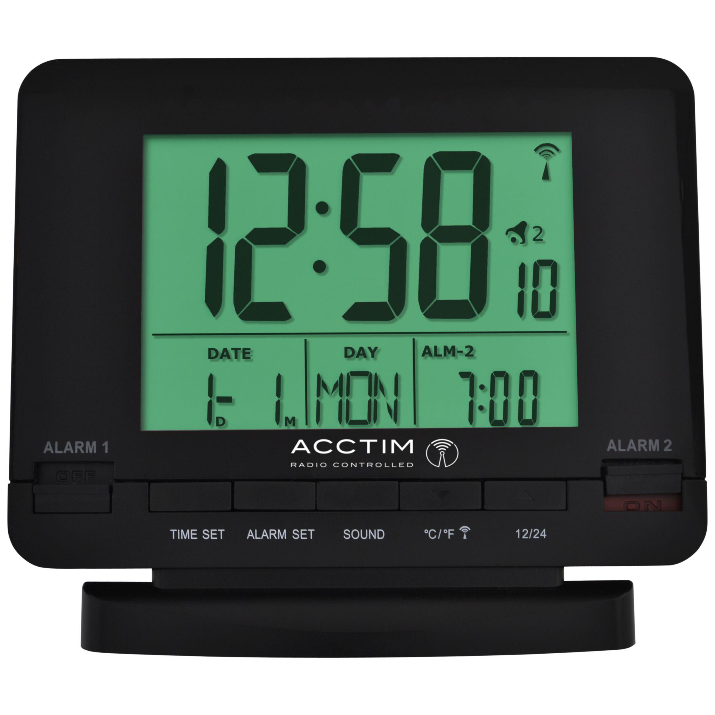 Acctim Acctim Radio Controlled Couples Alarm Clock, Black