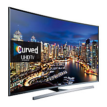 "Buy Samsung UE55JU7500 Curved LED 4K Ultra HD 3D Smart TV, 55"" with Freeview HD/freesat HD and Built-in Wi-Fi Online at johnlewis.com"