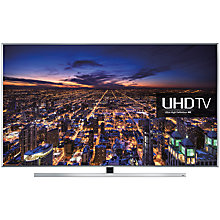 "Buy Samsung UE40JU7000 LED 4K Ultra HD 3D Smart TV, 40"" with Freeview/Freesat HD, Voice Control  with HW-J550 Wireless Soundbar Online at johnlewis.com"