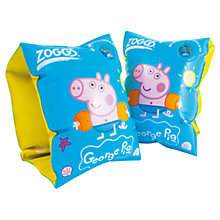 Buy Zoggs George Pig Armbands, Blue/Yellow Online at johnlewis.com
