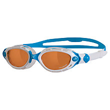 Buy Zoggs Predator Flex Polarised Ultra Women's Swimming Goggles, White/Blue Online at johnlewis.com