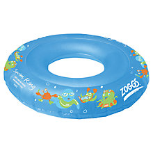 Buy Zoggs Zoggy Character Swim Ring, Blue Online at johnlewis.com