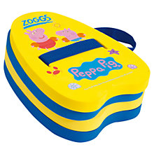 Buy Zoggs Peppa & George Pig Backfloat, Yellow/Blue Online at johnlewis.com