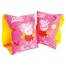 Buy Zoggs Peppa Pig Armbands, Pink/Yellow Online at johnlewis.com