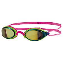 Buy Zoggs Fusion Air Mirror Swimming Goggles, Pink/Green Online at johnlewis.com