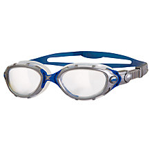 Buy Zoggs Predator Flex Swimming Goggles, Silver/Blue Online at johnlewis.com