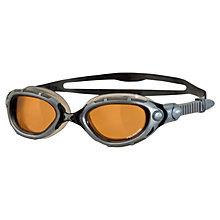 Buy Zoggs Predator Flex Polarised Ultra Swimming Goggles, Black/Silver Online at johnlewis.com