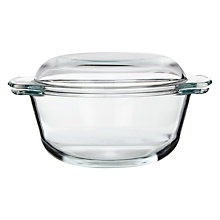 Buy John Lewis Round Casserole Dish with Lid, 2L Online at johnlewis.com