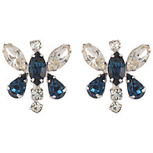 Buy Susan Caplan Vintage Bridal 1950s Butterfly Silver Plated Clip-On Earrings, Blue/Clear Online at johnlewis.com
