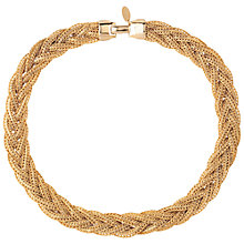 Buy Susan Caplan Vintage Bridal 1980s Gold Plated Weave Necklace, Gold Online at johnlewis.com