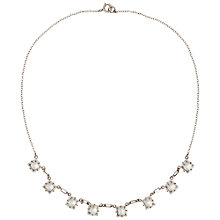 Buy Susan Caplan Vintage Bridal 1930s Sterling Silver Crystal Necklace, Clear/Silver Online at johnlewis.com