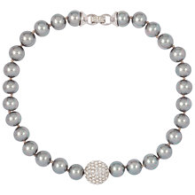 Buy Susan Caplan Vintage Bridal 1980s Gunmetal Pearl Necklace, Silver Online at johnlewis.com