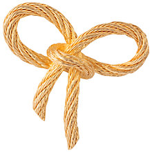 Buy Susan Caplan Vintage Bridal 1970s Christian Doir Bow Brooch, Gold Online at johnlewis.com