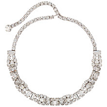Buy Susan Caplan Vintage Bridal 1960s Silver Plated Crystal Band Necklace, Clear/Silver Online at johnlewis.com