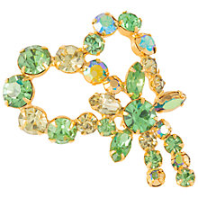 Buy Susan Caplan Vintage 1950s Weiss Swarovski Crystal Brooch, Green/Gold Online at johnlewis.com