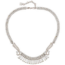 Buy Susan Caplan Vintage Bridal 1940s Deco Crystal Necklace, Silver Online at johnlewis.com